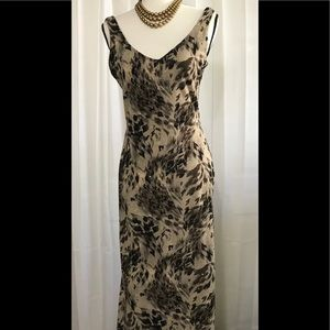 CACH'E Vintage dress with sparkles stretchy sz M-L